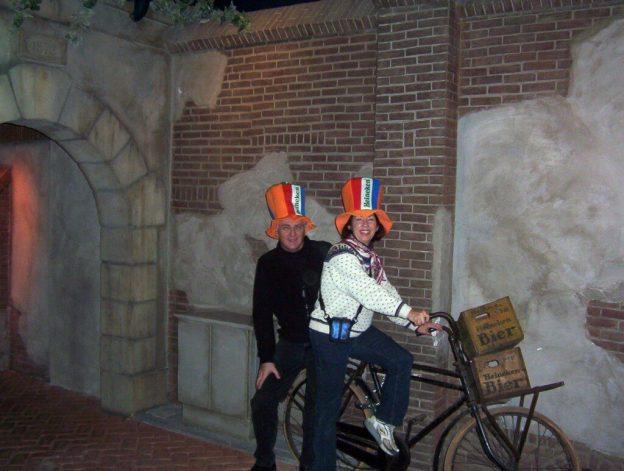 bob and jean at heineken brewery, amsterdam