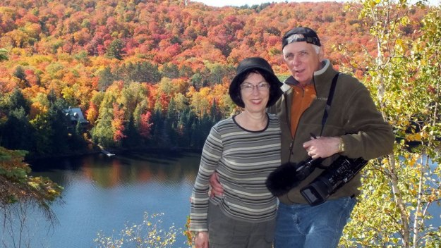 jean and bob at oxtongue lake, ontario, canada
