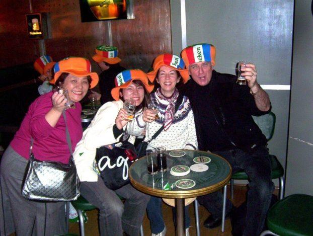 toast at heineken brewery, amsterdam