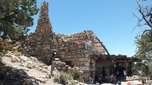 Hermit's Rest gift shop on the South Rim at Grand Canyon National Park in Arizona, U.S.A.