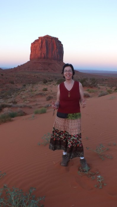 Jean in Monument Valley in Arizona, USA