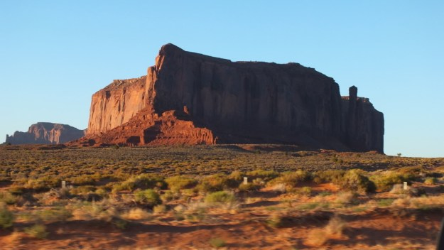 Massive Butte in Monument Valley near northern Arizona and southern Utah, USA