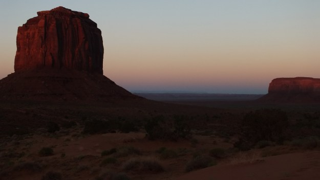 Merrick Butte at dusk in Monument Valley in Arizona, USA