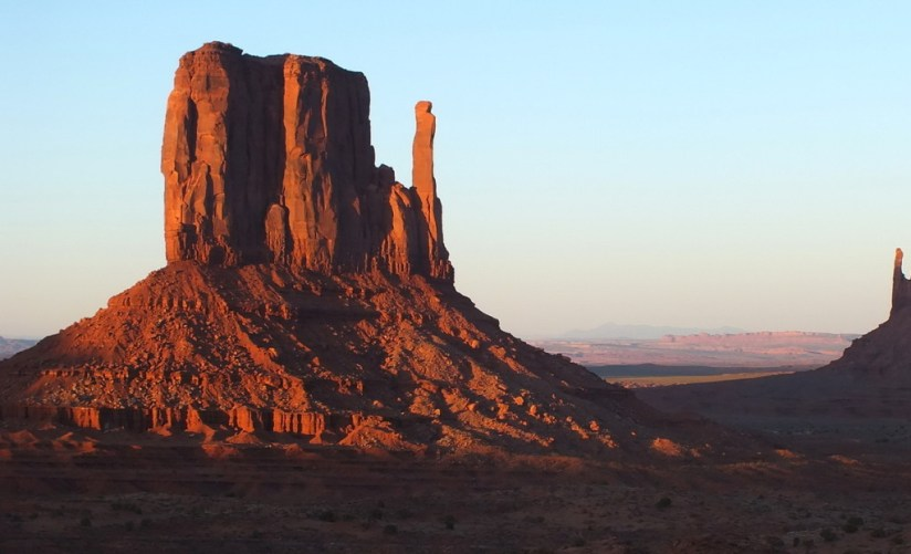 West Mitten Butte in Monument Valley near northern Arizona and southern Utah, USA