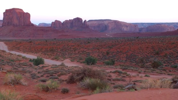 desert floor in Monument Valley near northern Arizona and southern Utah, USA