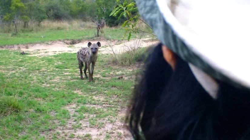 jean on armed safari, kruger national park, south africa,