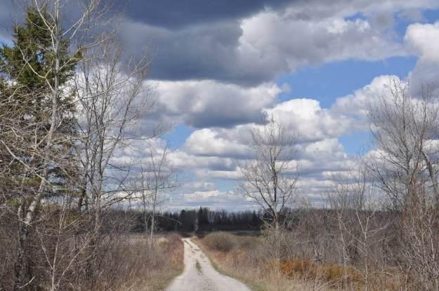 clouds over wylie road, carden alvar, ontario
