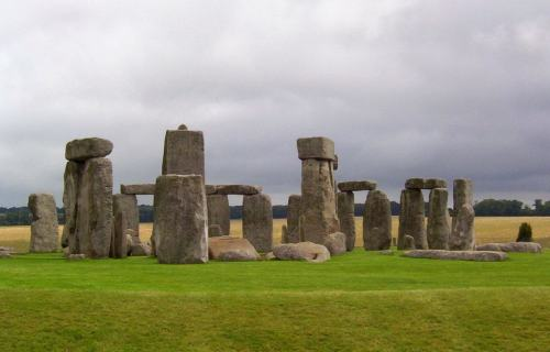 A wide-angle image of Stonehenge in Wiltshire, England. Photography by Frame To Frame - Bob and Jean