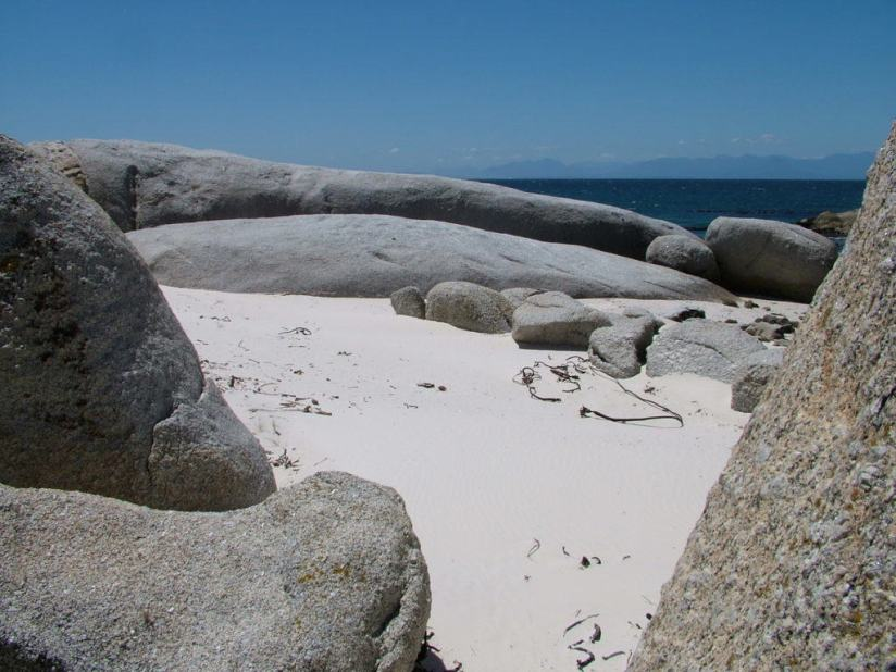 boulders on the sandy beach at boulders beach park, table mountain national park, south africa, pic 2