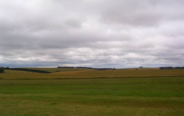 An image of the cloud covered landscape near Stonehenge in Wiltshire, England.  Photography by Frame To Frame - Bob and Jean