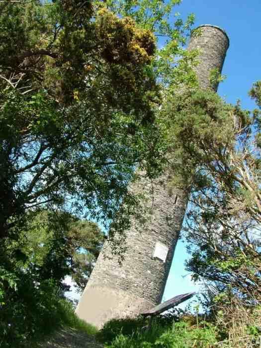 a Round Tower at Irish National Heritage Park, Ireland