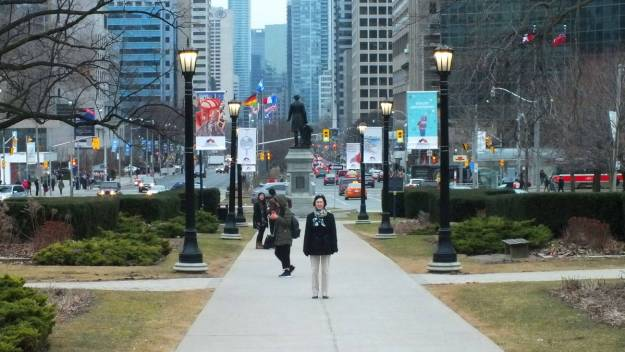 an image of a Walkway leading to Queen's Park, Toronto, Ontario, Canada