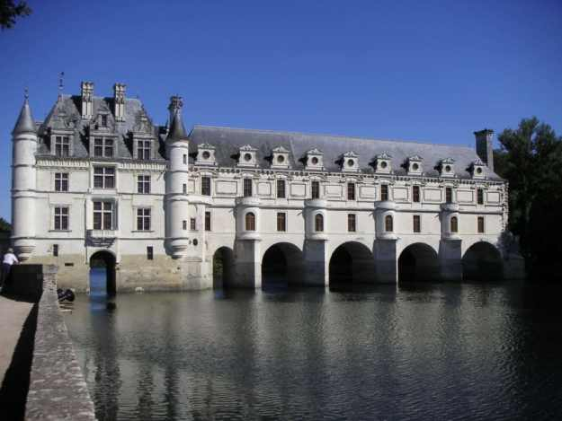 Chateau de Chenonceau in the Loire Valley in France