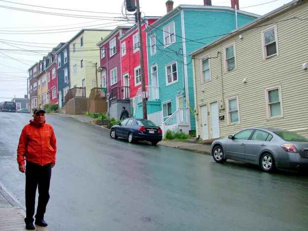 an image of colourful houses on a steep street in St. John's, Newfoundland, Canada