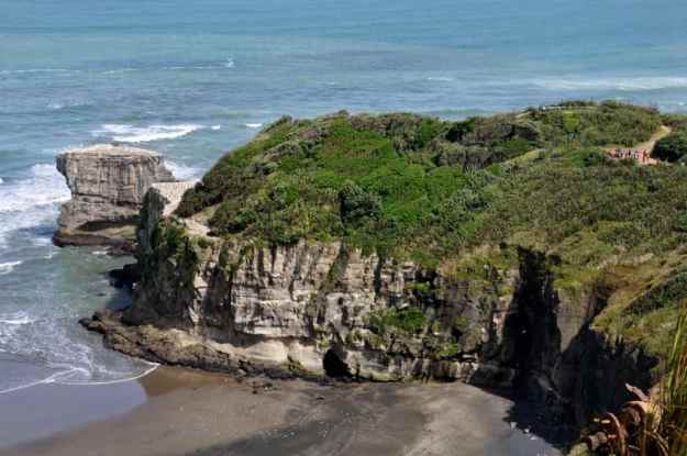 An image of Otakamiro Point at Muriwai in New Zealand.