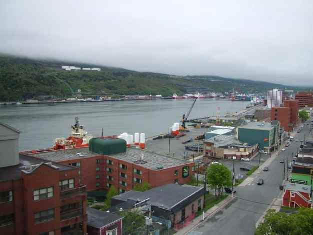 an image of St. John's harbour and Water Street, Newfoundland, Canada