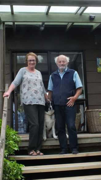 An image of Ann and Keith the proprietors of Lone Kauri Lodge in New Zealand.