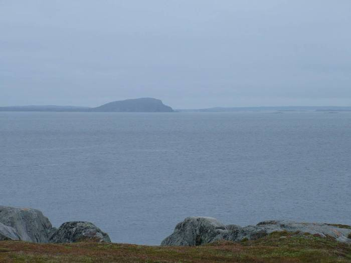 looking west from quirpon island, newfoundland, canada