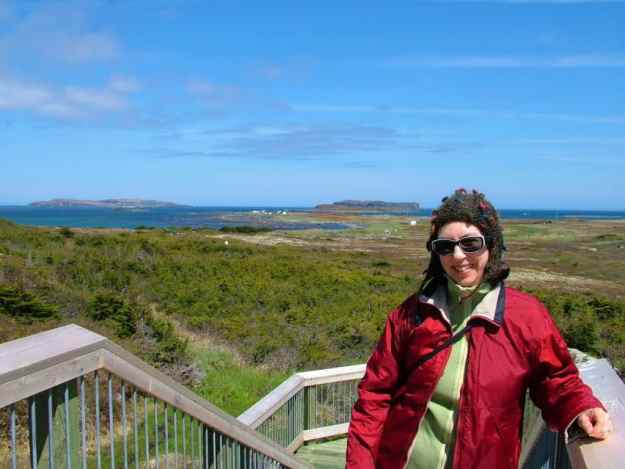 Jean at l'anse aux meadows, unesco world heritage site, newfoundland, Canada