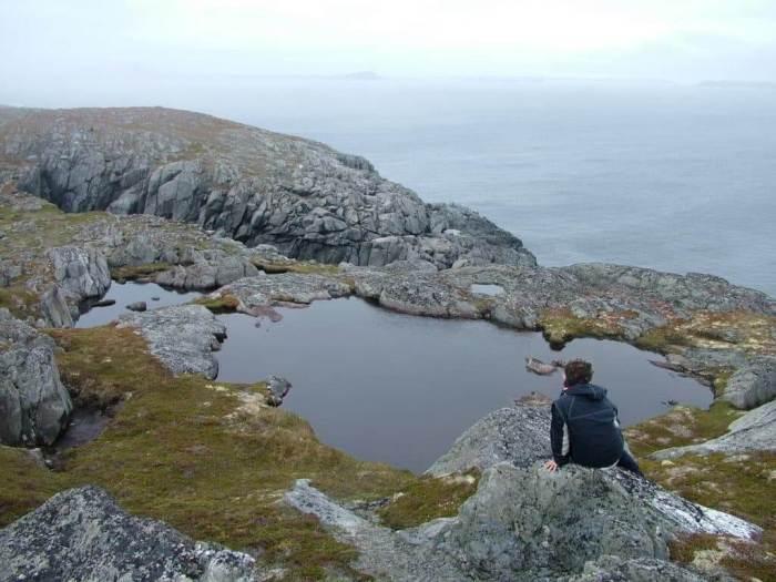 a vernal pond, quirpon island, newfoundland, canada