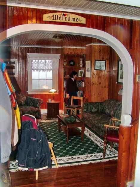 inside Quirpon Lighthouse Inn, Quirpon Island, Newfoundland, Canada