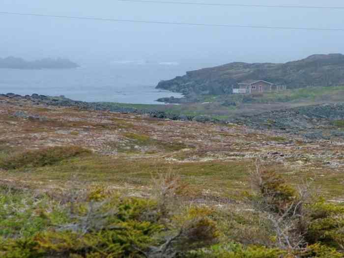 earl pilgrim's cabin on quirpon island, newfoundland, canada