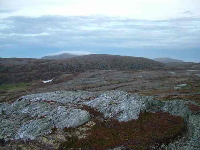 the rugged, rocky landscape of quirpon island, newfoundland, canada