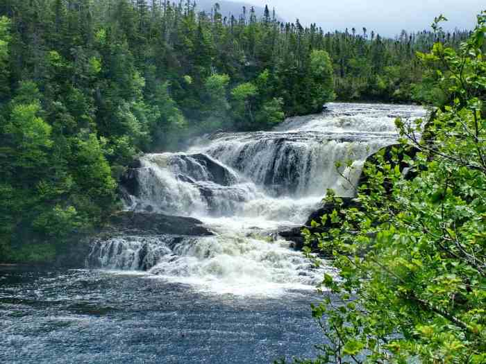 Baker's Brook Falls in Gros Morne National Park, Newfoundland and Labrador, Canada.