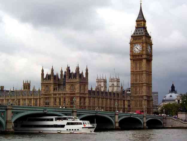 An image of the Palace of Westminster, London, England.