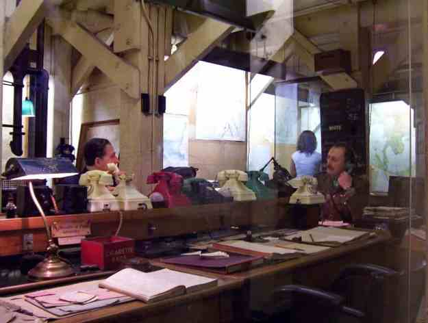 An image inside the Cabinet War Rooms in London, England.