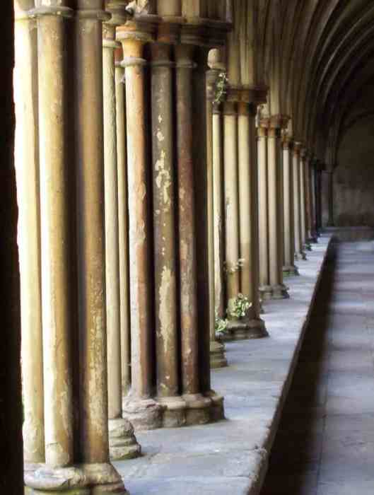 Image of the cloisters at salisbury cathedral in salisbury, england