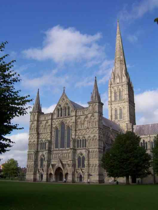 Salisbury Cathedral in Salisbury, Wiltshire, England