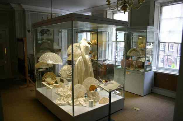 An image inside the Fan Museum at the Greenwich Village World Heritage Site, in England.