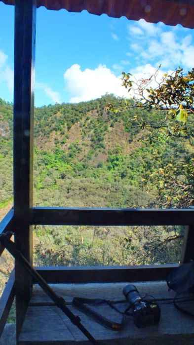a lookout at cerro de san juan ecological preserve near tepic, mexico