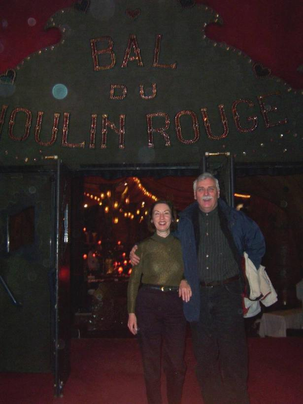 bob and jean at moulin rouge, paris, france