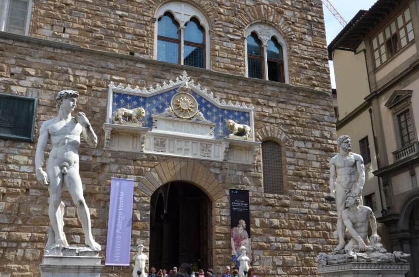 bandinelli's hercules and Cacus, Piazza della Signoria, florence, italy