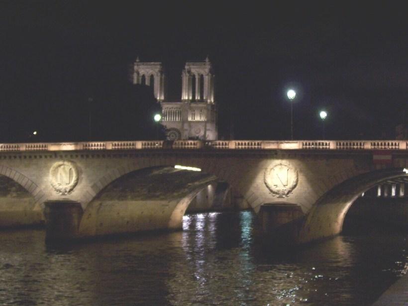 pont neuf at night, paris, france
