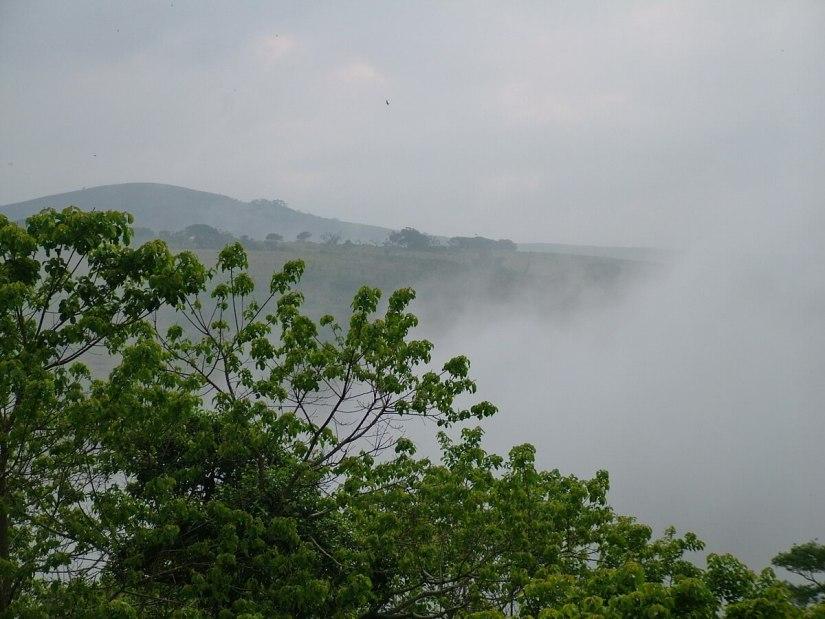 morning fog at hilltop camp, hluhluwe-imfolozi, south africa