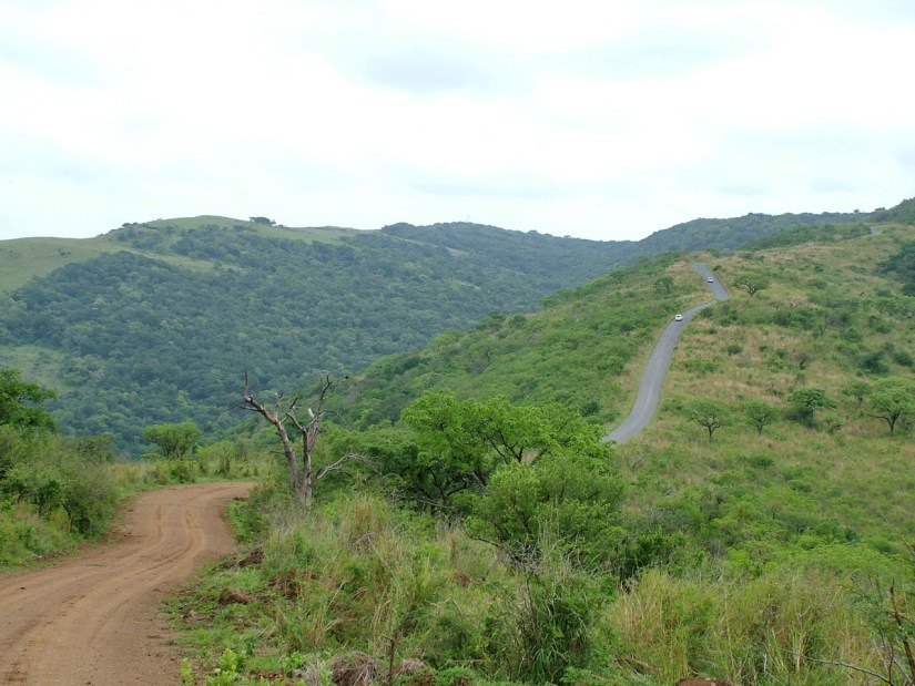 road to hilltop camp, hluhluwe-imfolozi, south africa