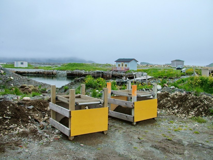 shaker boxes, table screens, archeological dig, colony of avalon, newfoundland, canada