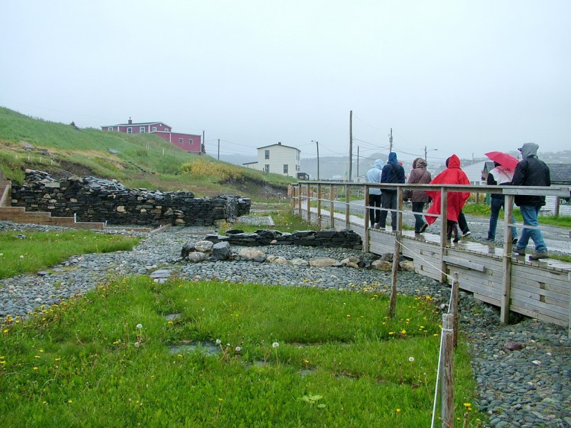stone foundation, archaeology dig, lost colony of avalon, newfoundland, canada