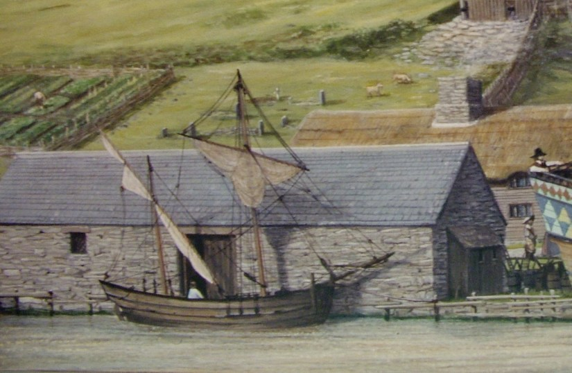 historical rendition, archaeology dig, colony of avalon, newfoundland and labrador