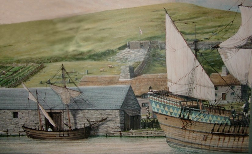 a historical rendition, colony of avalon, newfoundland, canada