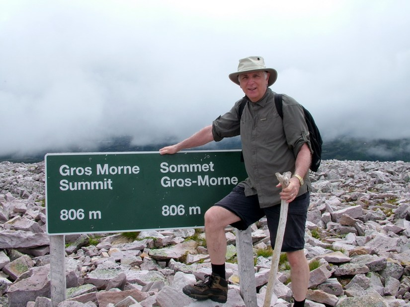 bob at the summit of gros morne mountain, newfoundland, canada