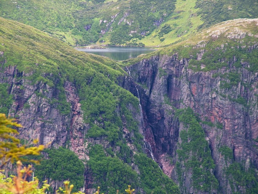 a hanging valley above ten mile pond, gros morne mountain, newfoundland, canada