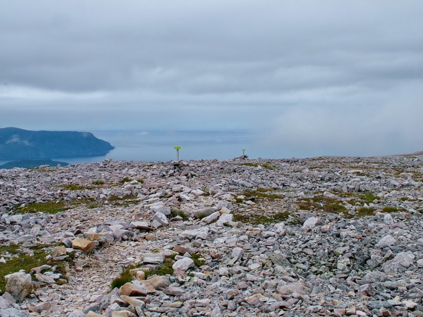 looking off the summit of gros morne mountain, newfoundland, canada