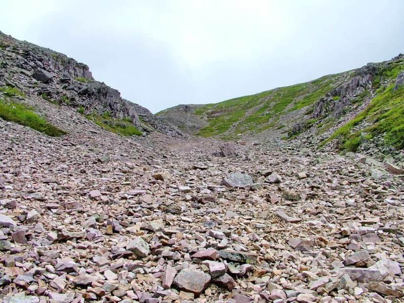 talus slope, the gully, gros morne mountain, newfoundland, canada