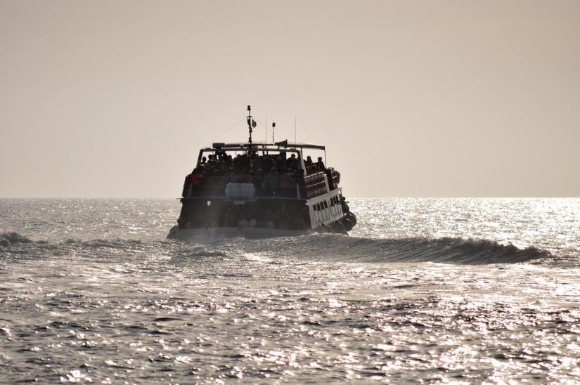 a ferry boat, vernazza, cinque terre, italy