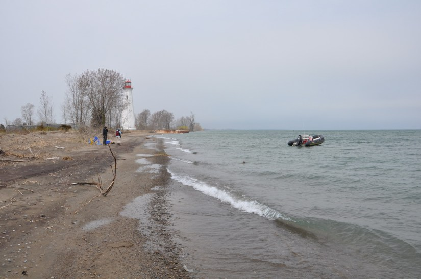 the tip of long point, lake erie, ontario