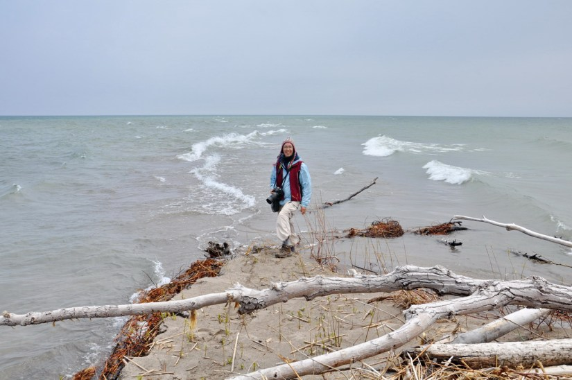 jean at the tip of long point, lake erie, ontario